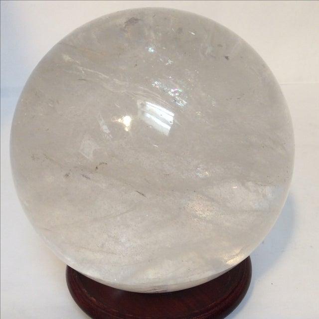 Large Quartz Crystal Ball - Image 3 of 9