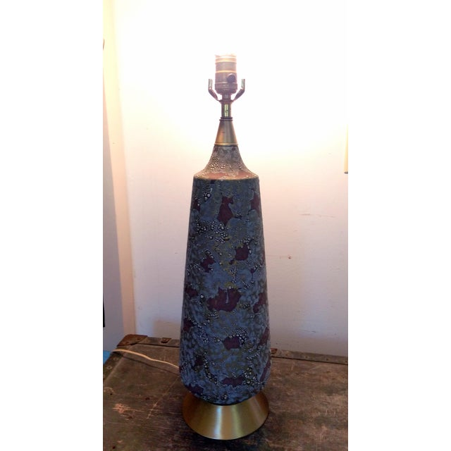 Image of Mid-Century Space Camo Ceramic Table Lamp