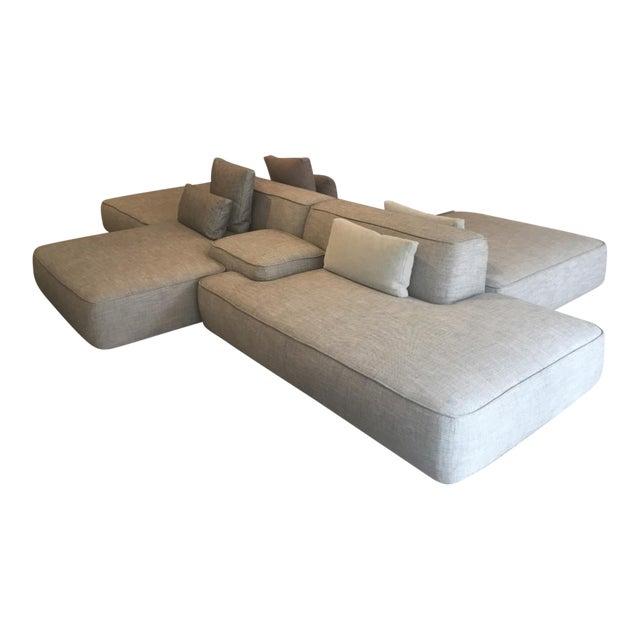 6 piece lema 39 cloud 39 modular sofa chairish - Divano doppia seduta ...