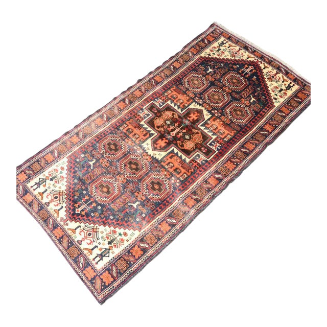 Hand Knotted Persian Baluch Rug - 3′3″ × 6′10″ - Image 1 of 9