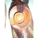 Image of Vintage Wooden Carved Figures - Pair