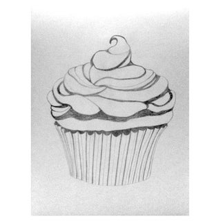 Art Print -Cupcake w/ Whipped Cream by Sylvia Roth