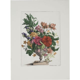 Francois De Poilly-Floral Bouquet-Etching