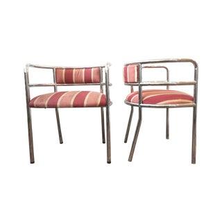 Vintage Dia Chrome Side Chairs - Pair