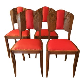 French Vintage Belle Epoque Dining Chairs - Set of 4