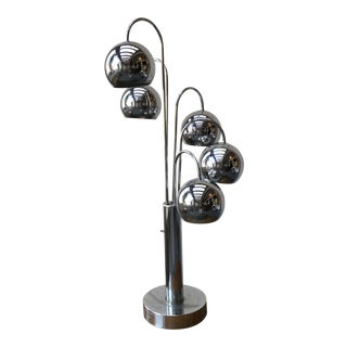 Robert Sonneman Chrome Ball Waterfall Lamp