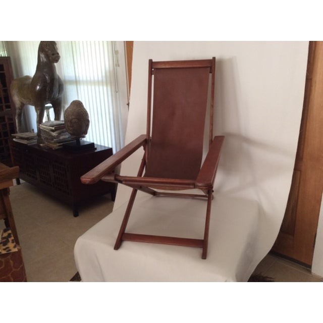 Antique Ocean Liner Folding Deck Chair - Image 10 of 11