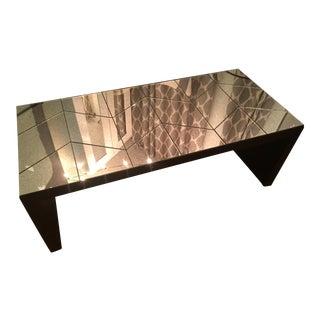 West Elm Mirrored Herringbone Coffee Table