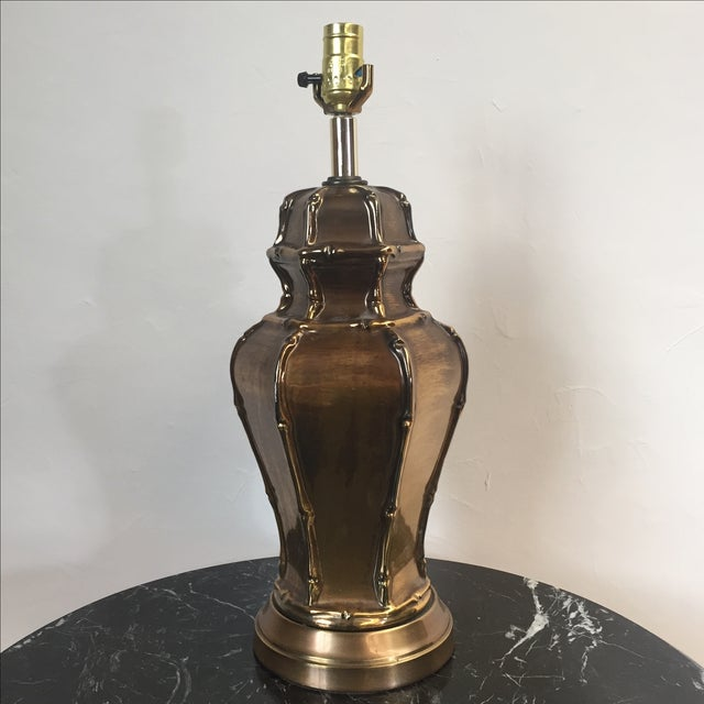 Frederick Cooper Brass Bamboo Table Lamp - Image 2 of 5