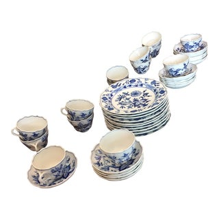 Meissen Blue Onion Porcelain Dessert Set- 41 Pieces