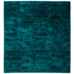 "Image of New Blue Overdyed Hand-Knotted Rug - 6' 2"" X 6' 7"""