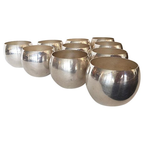 Silver Plate Small Glasses - Set of 10 - Image 1 of 5
