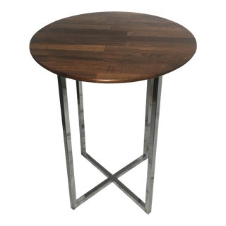 Milo Baughman Rosewood & Chrome Side Table
