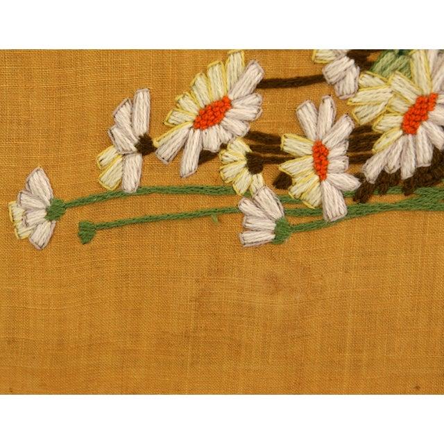 Image of Framed Vintage Flower Needlepoint