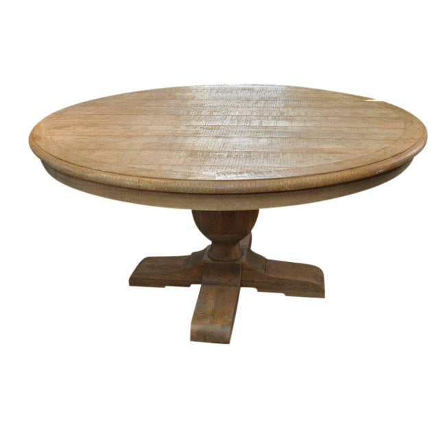 Restoration Hardware French Urn Pedestal Round Dining Table Chairish