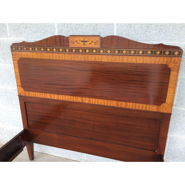 Kindel Quality Adams Style Banded Mahogany Single Bed - Image 3 of 9