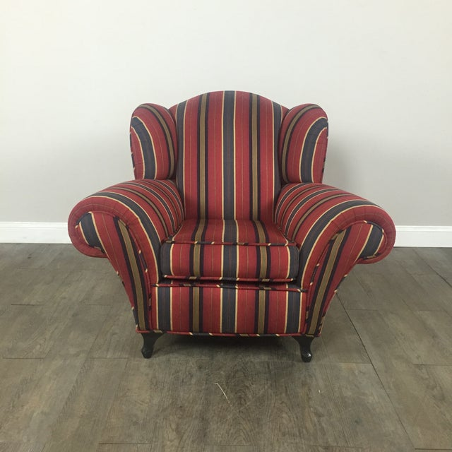 Kravet Club Chairs - A Pair - Image 9 of 11