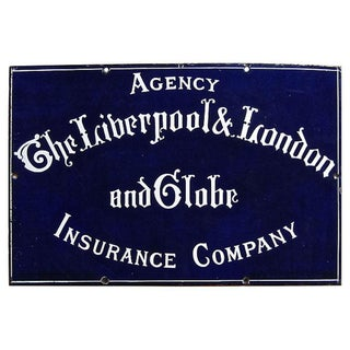 Liverpool London & Globe Insurance Sign