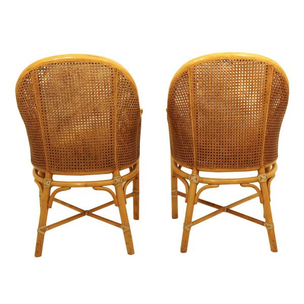 McGuire Rattan and Cane Dining Set - Image 4 of 10
