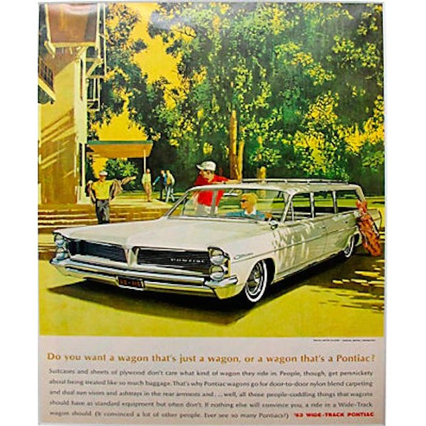 Image of Matted 1963 Wide Track Pontiac Ad