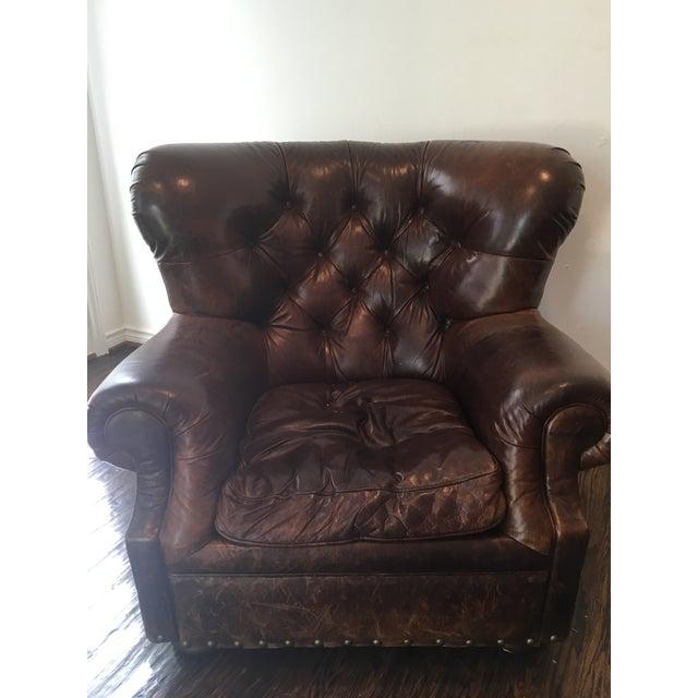 Restoration Hardware Churchill Leather Chair Chairish