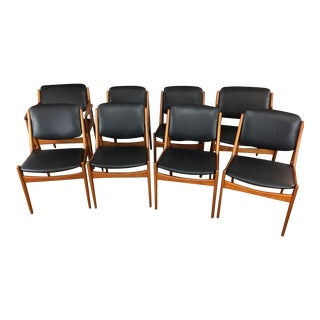 Arne Vodder Tilt Back Dining Chairs - Set of 8