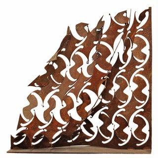 Abstract Iron Wave Sculpture