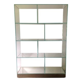 Glass Display Shelving Unit