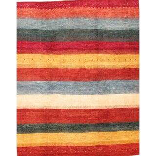 "Pasargad N Y Original Persian Gabbeh Hand-Spun Wool Rug - 6'6"" X 8'2"""