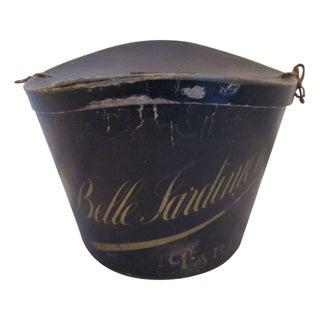 Antique Belle Jardiniere Silk Top Hat & Box
