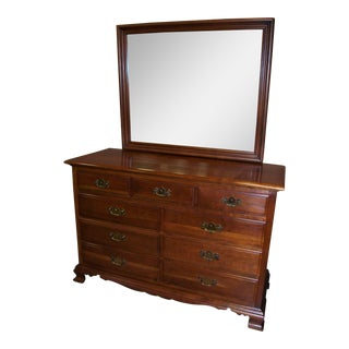 Monitor Cherry Dresser With Mirror