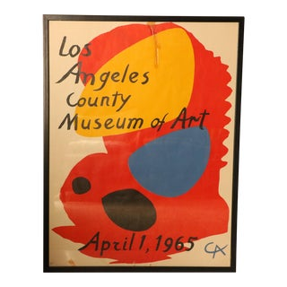 1965 Alexander Calder Los Angeles County Museum of Art Poster