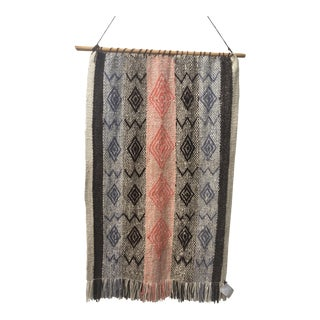 Vintage Argentinian Hand Woven Wool Wall Hanging