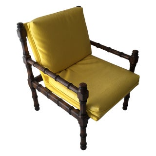 Vintage Bamboo Motif Yellow Chair