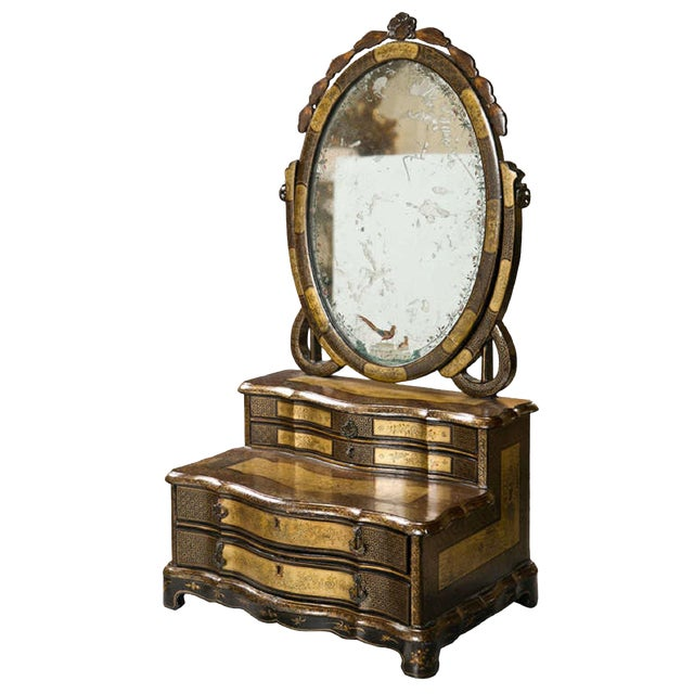 19th C. Oriental Vanity Table Mirror - Image 1 of 10