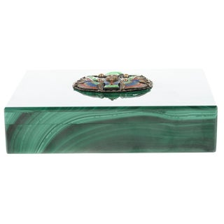 Malachite Box with Egyptian Emblem