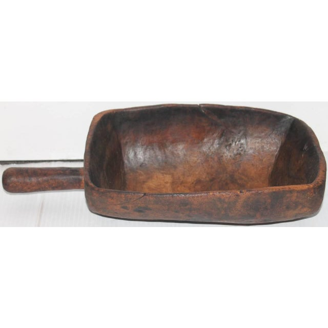 19th Century Original Old Surface Hand-Carved Scoop - Image 6 of 10