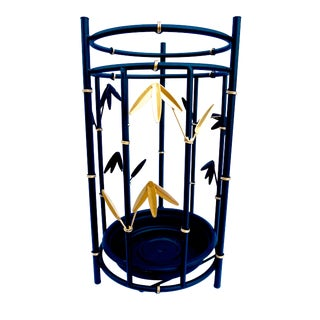 Vintage Faux Bamboo Metal Umbrella Stand