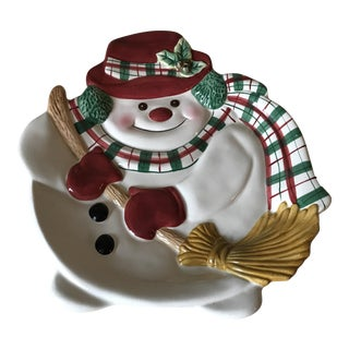 Fitz and Floyd Essentials Snowman Plate