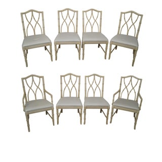 Thomasville Faux Bamboo Dining Chairs - Set of 8
