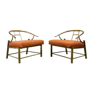 Brass Lounge Chairs by Mastercraft - Pair