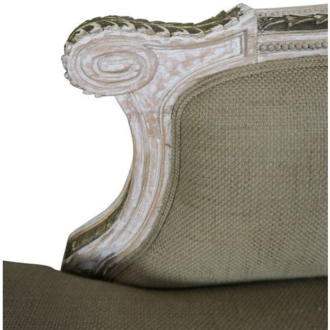 Neoclassical Italian Painted Chaise - Image 5 of 6