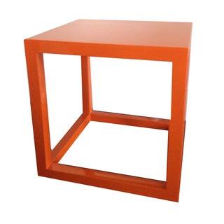Jonathan Adler Orange Lacquer Cube