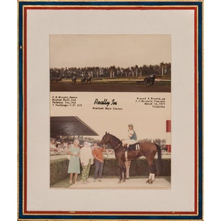"""""""Really In"""" Winner's Enclosure Color Framed Photo"""