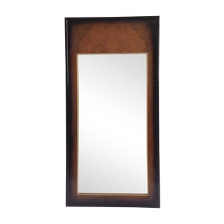 Century Burnished Burl Wood Mirror