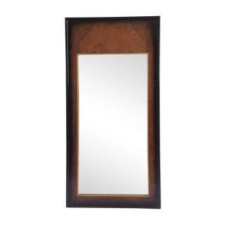 Century Burnished Burl Wood Mirror