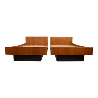 W&B Møbler Danish Teak Twin Platform Beds - A Pair