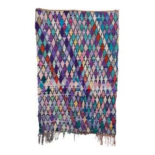 Moroccan Boucherouite Rag Carpet - 4′2″ × 6′3″