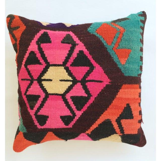 Flax Turkish Kilim Pillow - Image 2 of 3