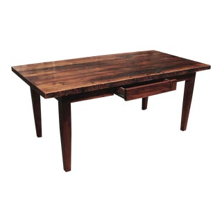 One Drawer & Tapered Leg Pine Farm Table